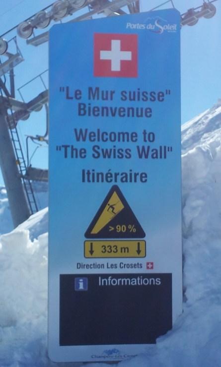 Die Schweizer Wand, Foto: Marco Dimmer