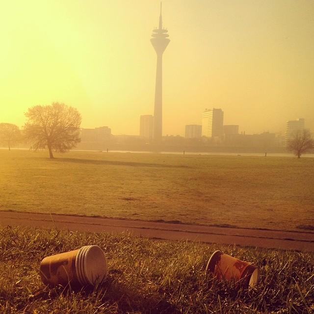 Idyllischer Picknickplatz im Morgenlicht...