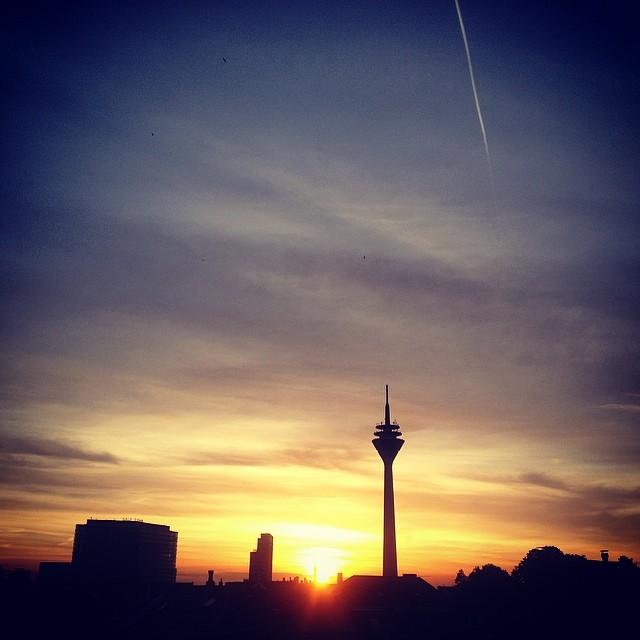 Ein fast schon sommerlicher Sonnenuntergang...