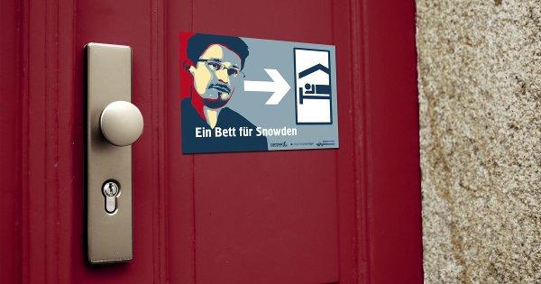 """Soliaktion – """"Ein Bett für Snowden"""""""