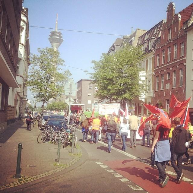 1. Mai Endlich mal wieder auf die Straße gehen. #duesseldorf #demo
