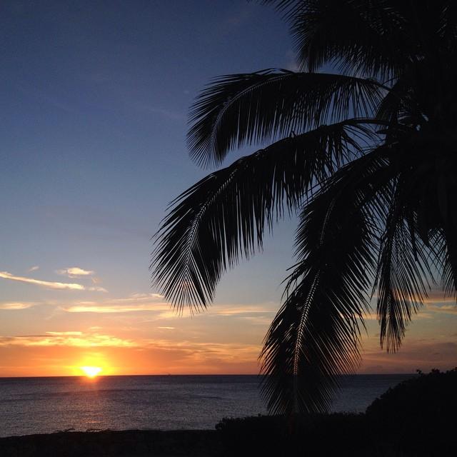 Sonnenuntergang auf Curacao (ein ganz klein wenig kitschig) :-)