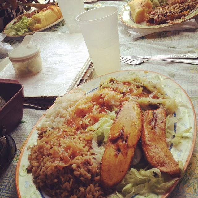 ... really nice vegetarian caribbean  dishes at plasa bieu :-) I love it :-)