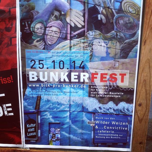 Bilk Pro Bunker – Am Samstag gibt es ein BunkerFest am alten Bunker.