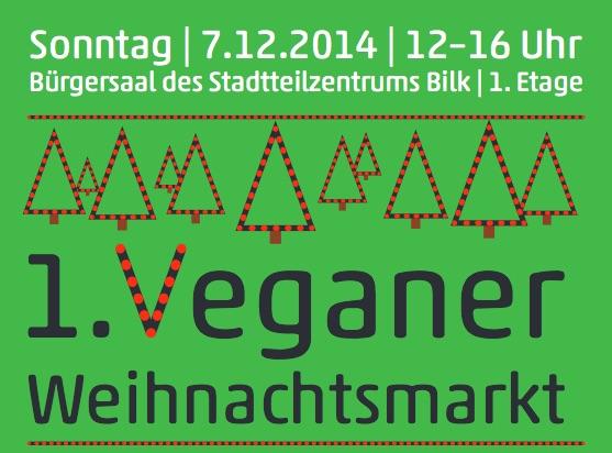 Düsseldorfs erster veganen Weihnachtsmarkt in Bilk