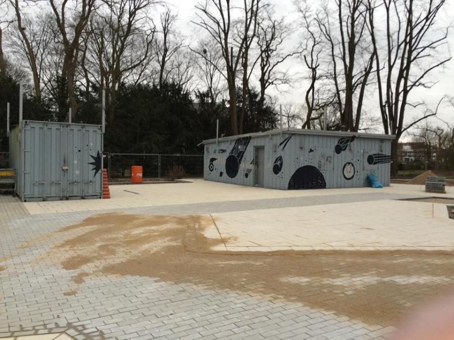 Die Neugestaltung des Sternwartepark nimmt langsam Formen an