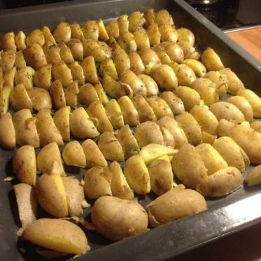 Das schrubben der Kartoffeln hat sich echt gelohnt...
