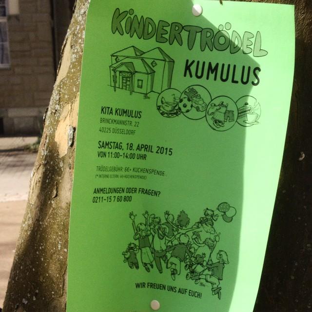 Schon mal zum vormerken : Kindertrödelmarkt am 18. April in der Kita Kumulus...