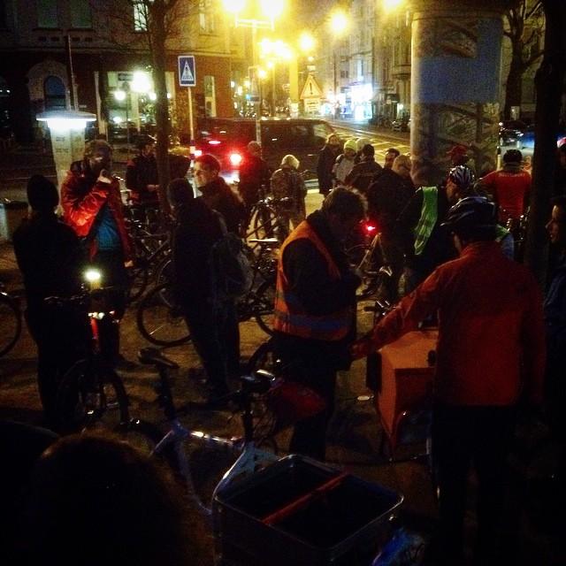 Endlich ist mal wieder Zeit für eine ordentliche Critical Mass in der Stadt :-)
