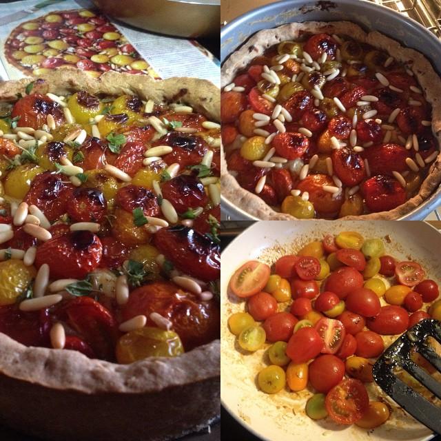 Och, so eine Tomaten-Quiche als Abendessen ist schon lecker ;-)