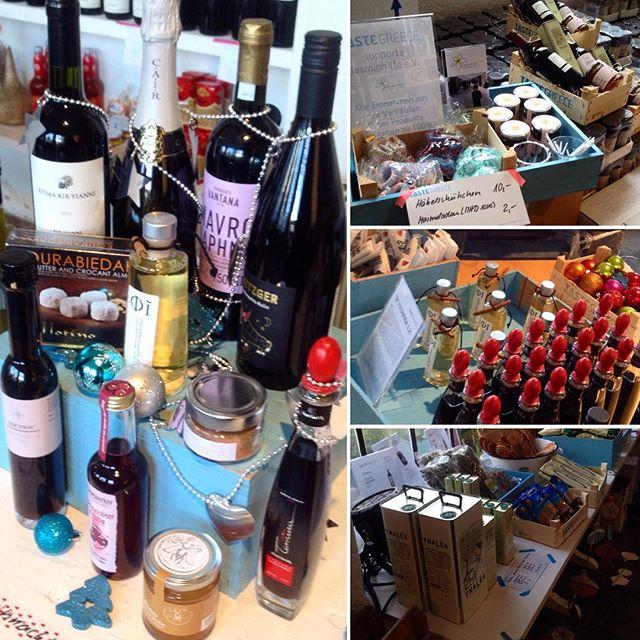 """So, damit ist der """"Weinkeller"""" wieder aufgefüllt :-) By The way - wer noch Last-Minute-Geschenke sucht : bei TasteGreece bekommt man die kulinarische 'Genusskiste' auch liebevoll eingepackt..."""