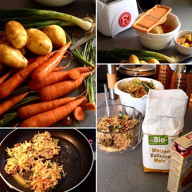 Schöner Leben mit Kartoffelpuffern ;-) Manchmal braucht man einfach mal simples - wo man beim kochen sich ein wenig verausgabt und den Stress des Tages atomisiert bzw schreddert :-) #kochenohneknochen #daily