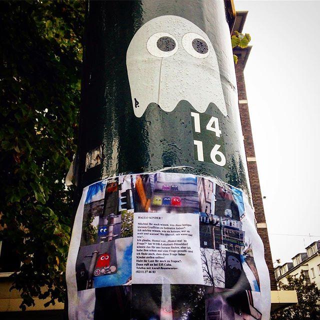 Es gibt nun auch schon Spaceinvaders von PDOT mit Erklärtafel - die Straße wird zur begehbaren #streetart Ausstellung :-)