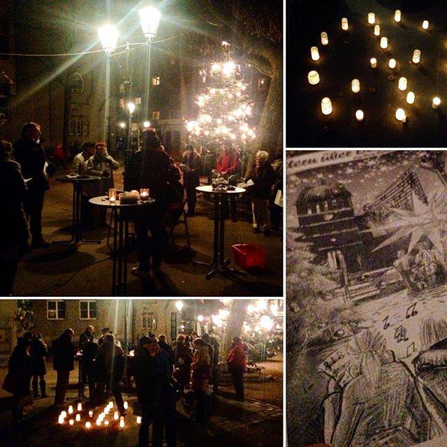 Das Friedensplätzchen wird gerade zum weihnachtlichen Adventskalender-Türchen :-) Nachbarschaft kann man leben.