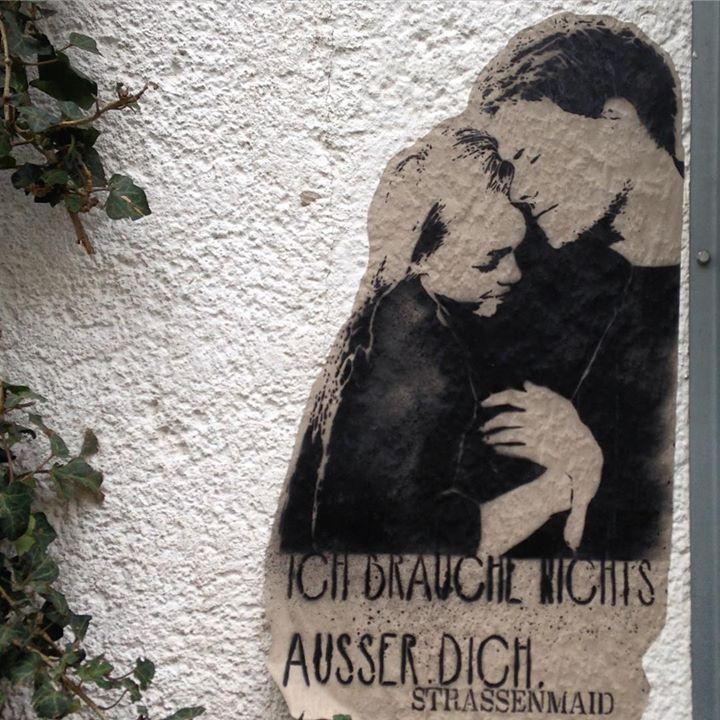 Streetart kann auch romantisch sein.