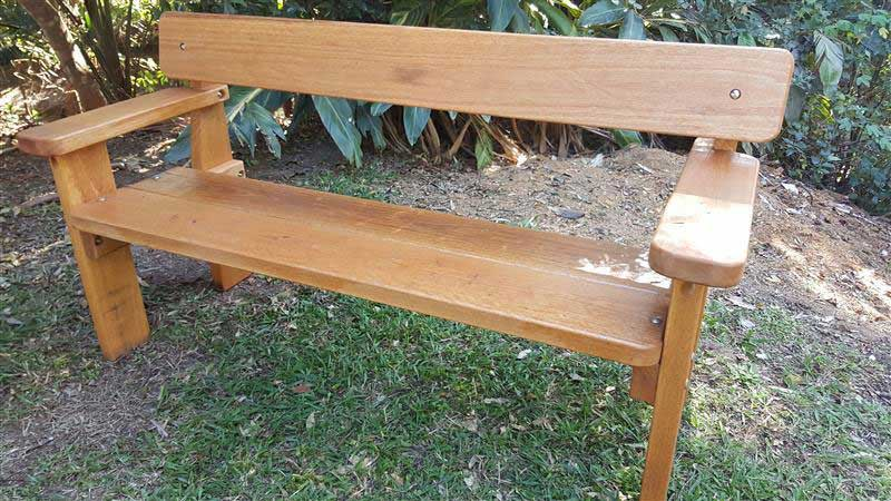 Bench Seat With Arm Rests By Billabong Garden Furniture