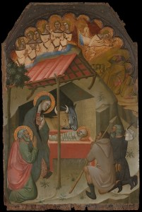 Adoration of the Shepherds, by Bartolo di Fredi. With thanks to the Metropolitan Museum.