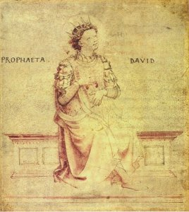 David Playing a Psaltery, by Fra Angelico