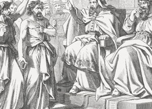 Jehoshaphat shown here with Ahab.