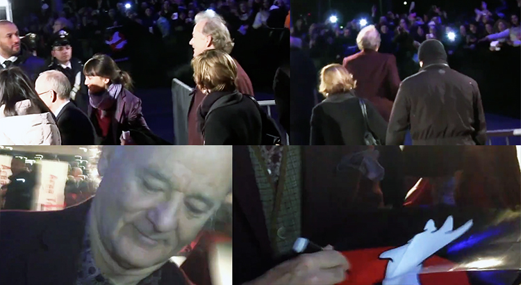 Bill Murray at Monuments Men premiere, Italy