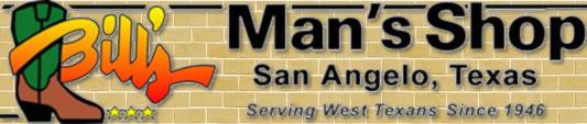 Bill's Man's Shop in San Angelo, Texas - Western Wear Store logo