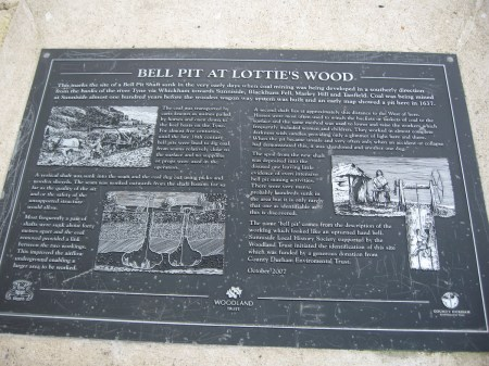Bell Pit Plaque at Sunniside