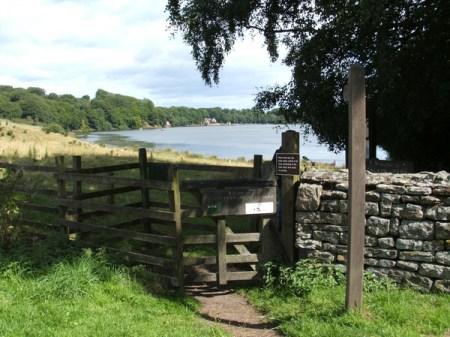 Entrance to Talkin Tarn