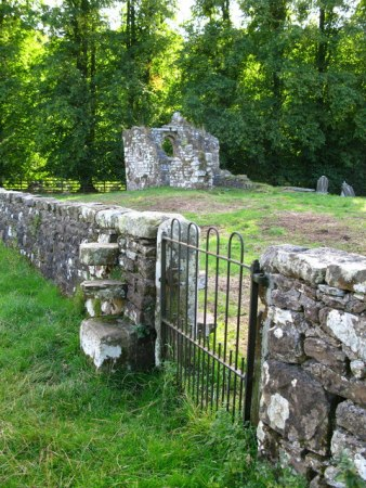 Remains of St Mary's Church at Brignall