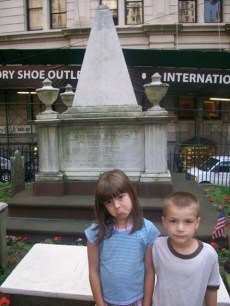 In front of the burial place of dad's favorite president
