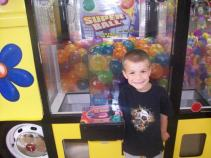 Liam wanted a bouncy ball from this rest stop to and from New York