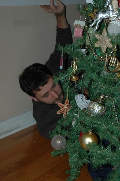 Dad Drunk Behind the Tree