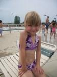 Ada in her new swimsuit