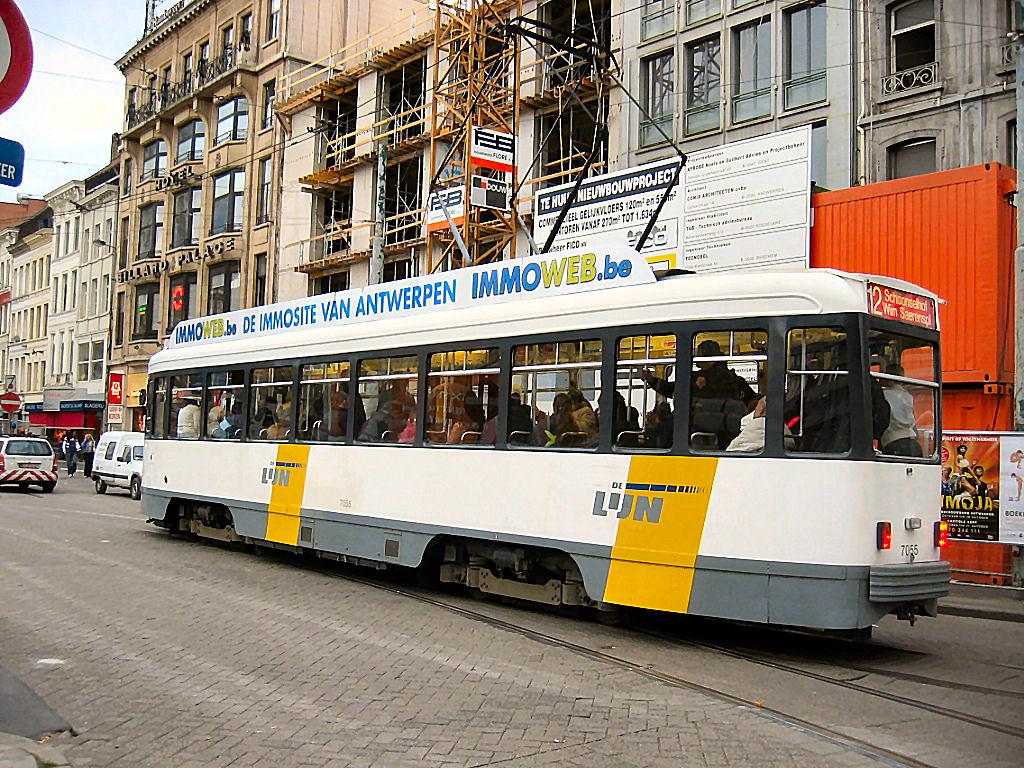 Tram, Antwerp, Belgium, Europe.