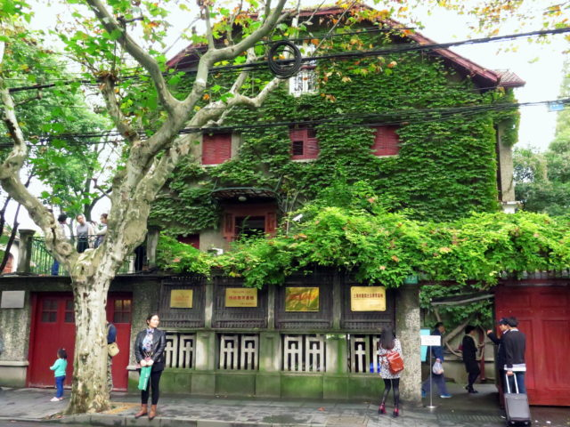 This charming house, built in the '20s, was for a while the home of Zhou Enlai, the first Premier of Communist China. He served under Mao from 1949 to 1976, the year they both died. It is now a Communist-themed museum. French Concession, Shanghai, China, Asia.