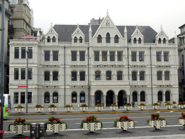 China Merchants Bank Building, 1907. Built in a Gothic-Revival style, it looks like a French chateau! Bund, Shanghai, China, Asia.