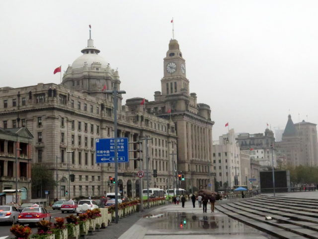 The Bund in Shanghai symbolizes a century of foreign control over most of the city. Shanghai, once a small port, started to become the large international city it is today when Western powers occupied most of the city as a result of the First Opium War. Bund, Shanghai, China, Asia.