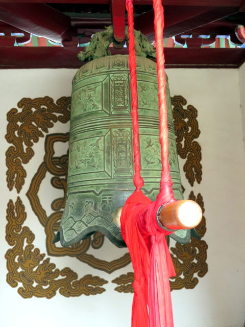 The old temple bell. Tianjin, China, Asia.