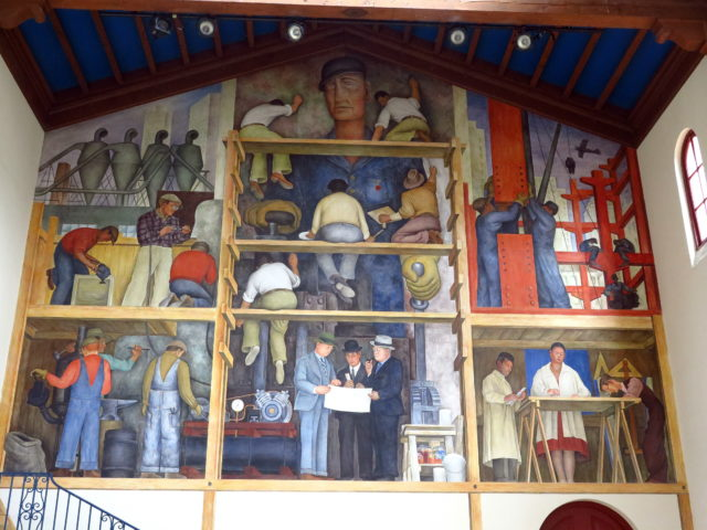 """The most famous artwork at San Francisco Art Institute is Diego Rivera's 1931 mural """"The Making of a Fresco Showing the Building of a City"""". It's very meta. San Francisco, United States, North America."""