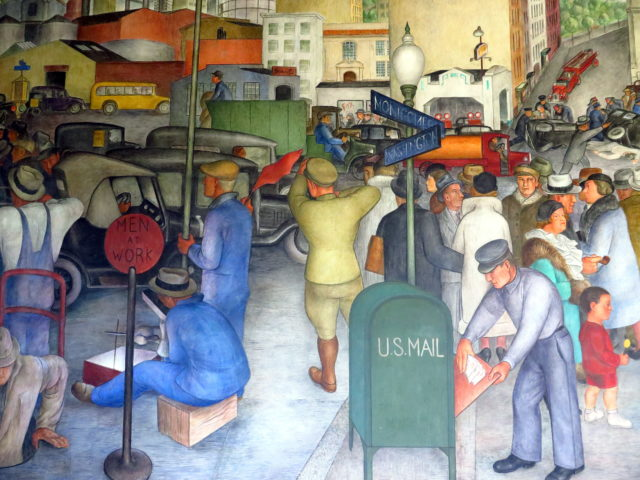 Honorable Mention: WPA murals at Coit Tower. (Day 2) San Francisco, United States, North America.