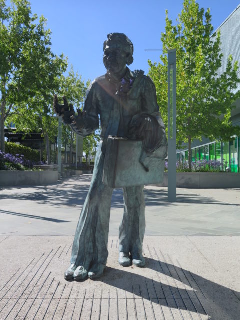 """Your eyes aren't out of focus. This is """"Shaking Man"""" by Terry Allen, 1993. Shake his right hand(s). San Francisco, United States, North America."""