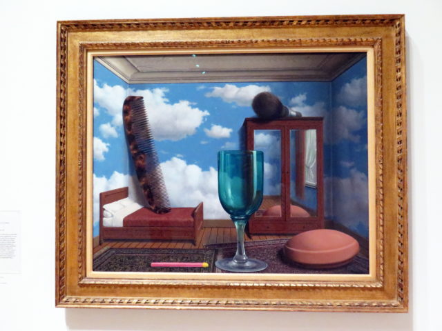 """My favorite surrealist! """"Les valeurs personelles"""" (""""Personal Values"""") by René Magritte, 1952. SFMOMA, San Francisco, United States, North America."""