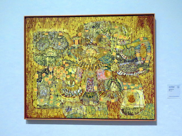 """""""The Luminous Loot"""" by Lee Mullican, 1948. This is the same artist that did """"Dynaton Triptych"""" above. I guess something about his art must catch my eye. SFMOMA, San Francisco, United States, North America."""