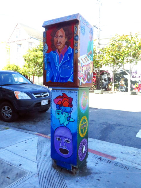 In the Mission, even the utility boxes get into the act! San Francisco, United States, North America.