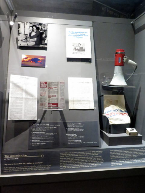 Items from the life of pioneering gay politician Harvey Milk. San Francisco, United States, North America.