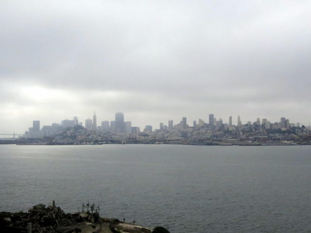 Grim prison cells notwithstanding, you get a pretty sweet view of the San Francisco skyline from Alcatraz. San Francisco, United States, North America.