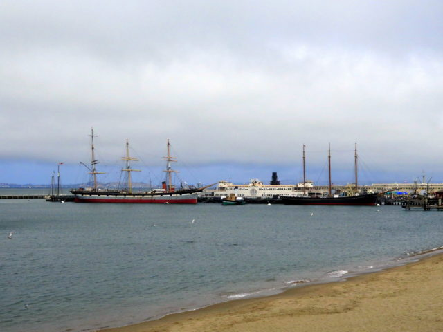The historic ships at Hyde Street Pier. San Francisco, United States, North America.