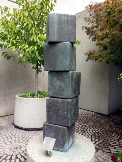 "Public art at the Embarcadero Center, appropriately titled ""Blocks"". San Francisco, United States, North America."
