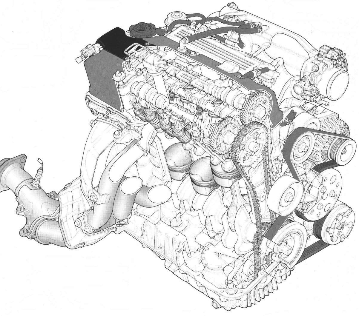 Honda S Technical Drawings