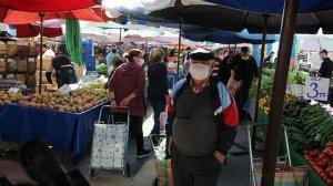 Antalya haberleri: Vaka artışının devam ettiği Antalya'da pazar yoğunluğu