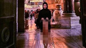 Ayasofya'da skandal pozlar vermişti! Flaş gelişme